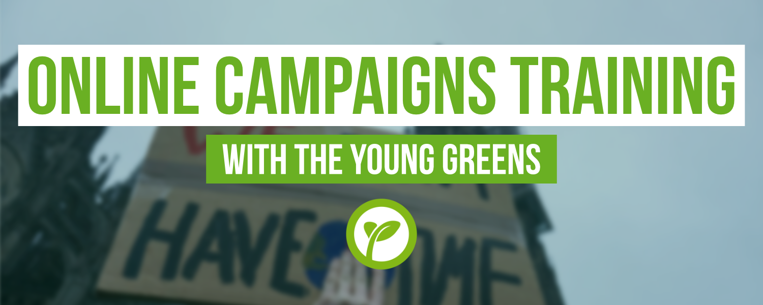 Online Campaigns Training with the Young Greens