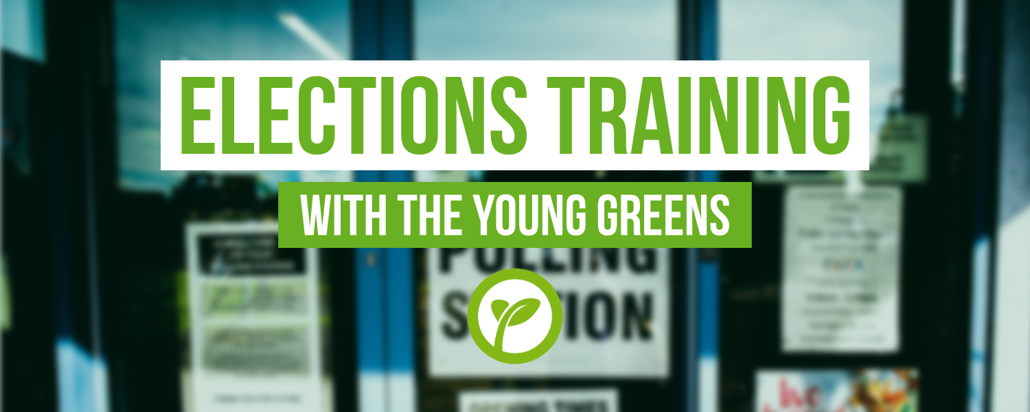 Elections training. With the Young Greens.
