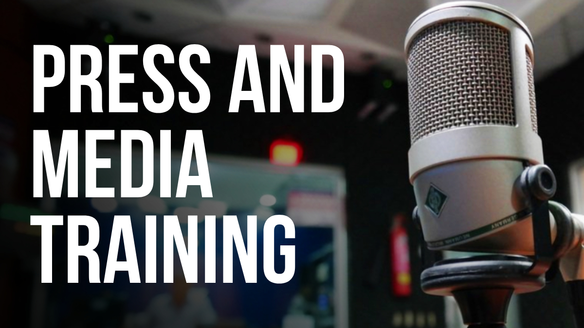 Press and media training. Img: microphone